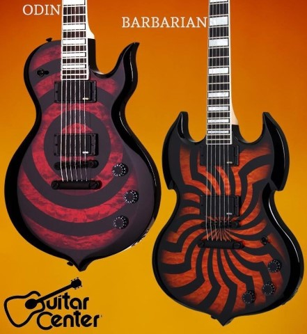 Wylde Audio Barbarian Electric Guitar Hellfire Buzzsaw
